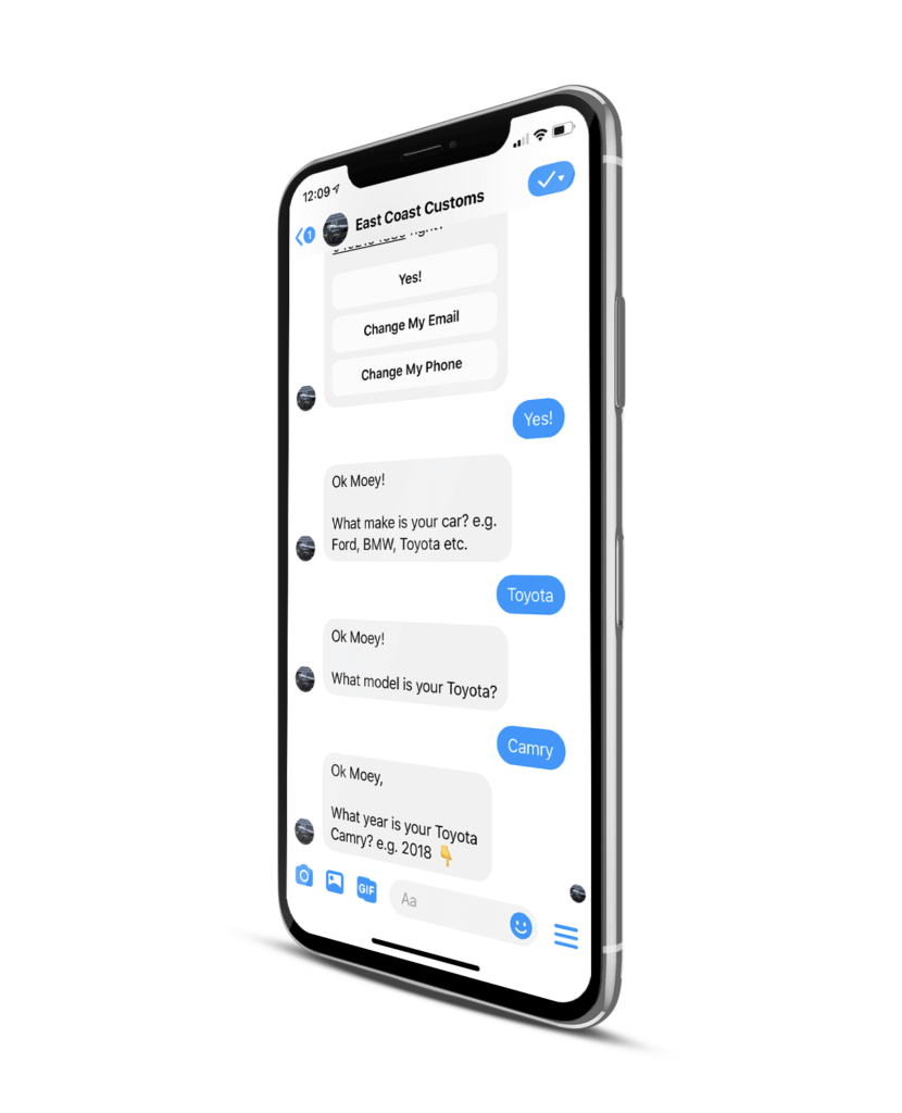 Facebook Messenger Chatbot Collecting Leads On Auto Pilot