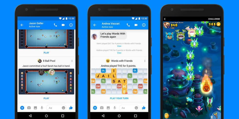 Gamification on Facebook messenger